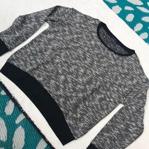 Aritzia talula sweater black and white pullover